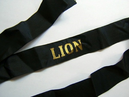 LION avant 1939 RUBAN LEGENDE ORIGINAL CAP TALLY
